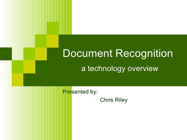 Document Recognition Market Landscape