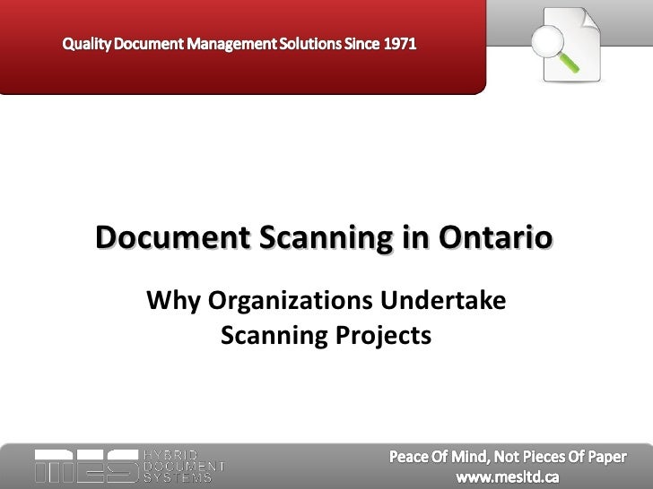 Document scanning in ontario   mes hybrid