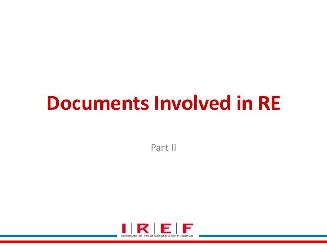 Documents Involved in RE Part II