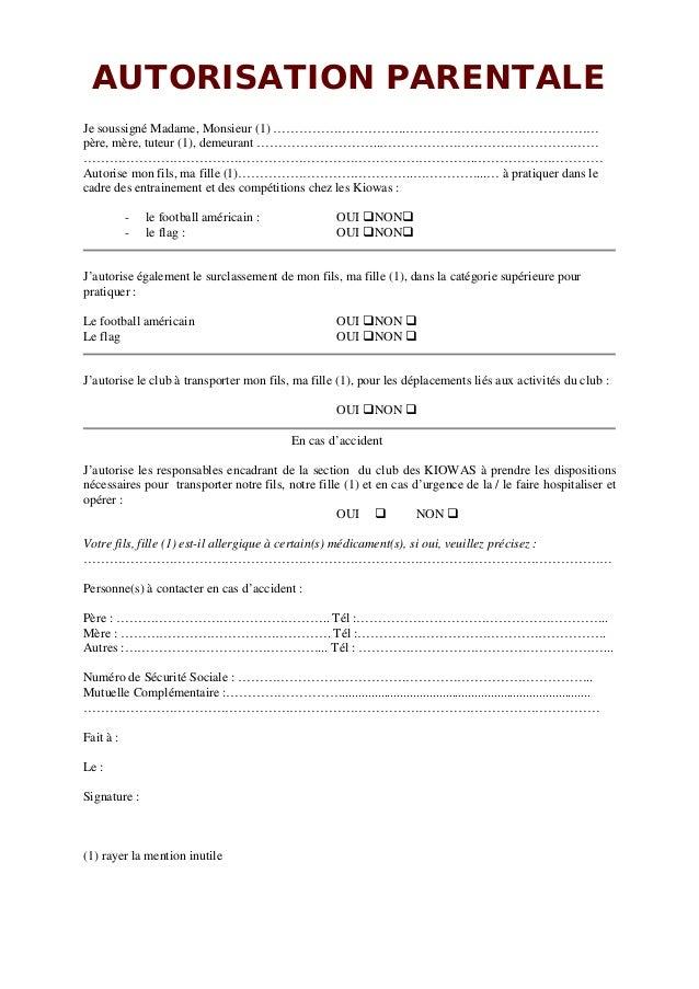 modele autorisation parentale maroc
