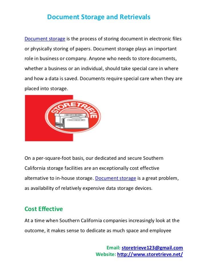 Document Storage and Retrievals