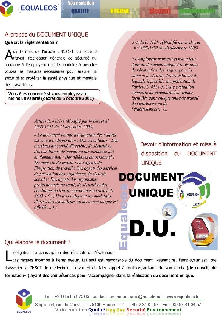 Document Unique Via Equaleos.V6 Finalisé