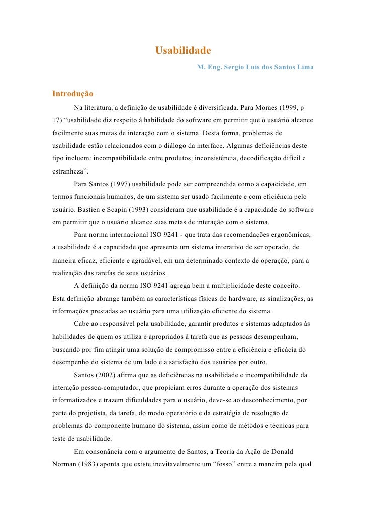 Doc. Usabilidade Santos-Lima