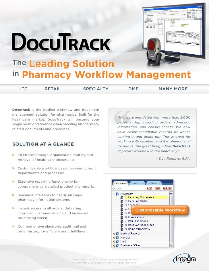 The Leading Solutionin Pharmacy Workflow                                                           Management    LTC      ...