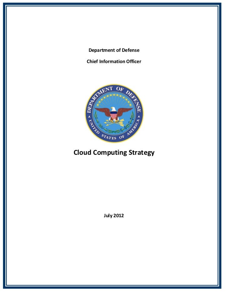 DoD Cloud Computing Strategy