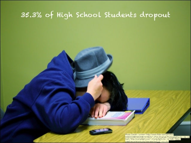 "35.3% of High School Students dropout  Photo Credit: <a href=""http://www.flickr.com/photos/ 40645538@N00/6961676525/"">Pink ..."