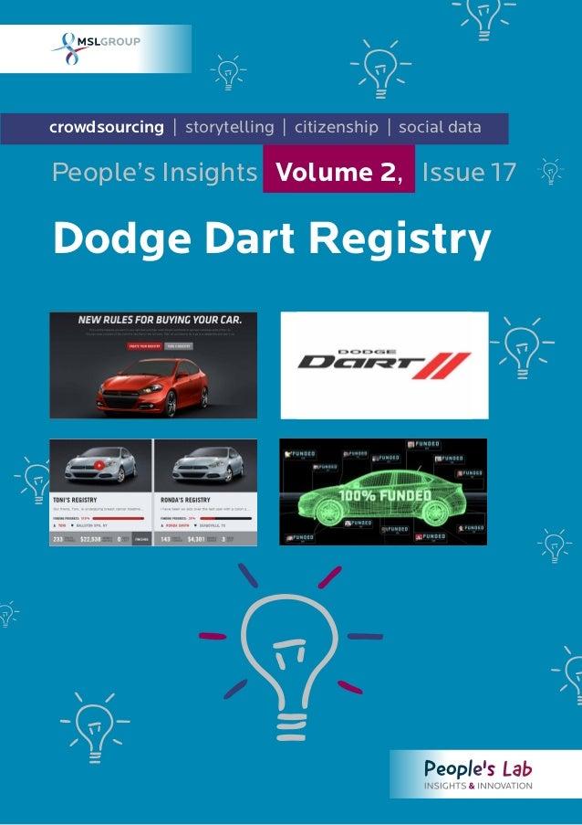 Dodge Dart Registry: People's Insights Volume 2, Issue 17