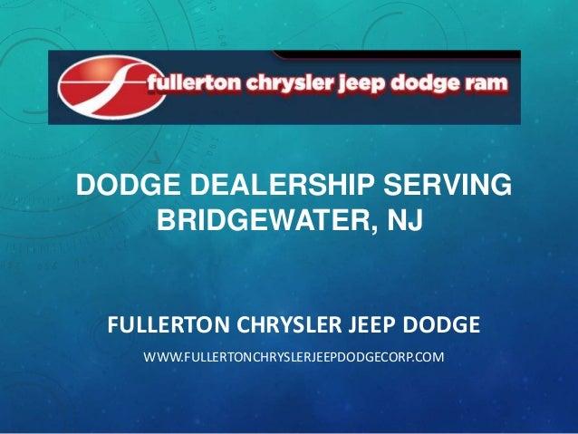 Dodge dealership serving Bridgewater, NJ