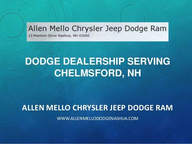 Dodge Dealership Serving Chelmsford, NH