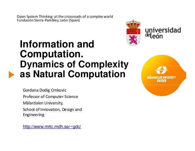 OpenSystemThinking:atthecrossroadsofacomplexworldFundaciónSierra‐Pambley,León(Spain)Information andInformation...
