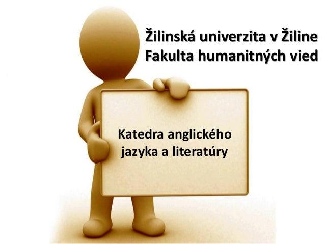 O katedre anglického jazyka FHV UNIZA