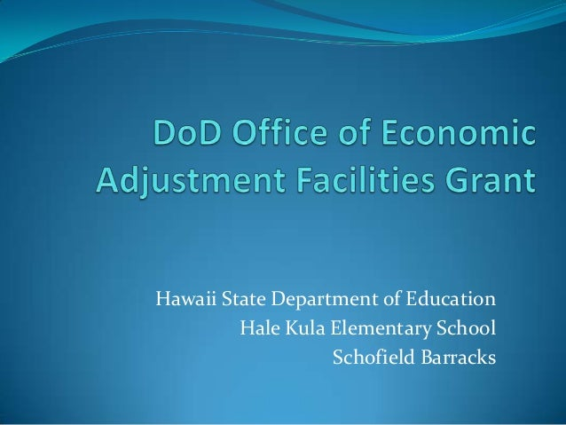 Hawaii State Department of Education         Hale Kula Elementary School                   Schofield Barracks