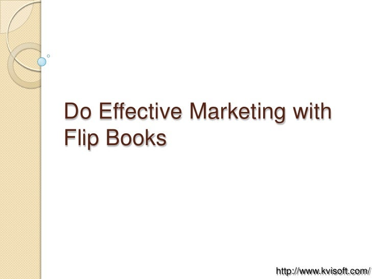 Do Effective Marketing with Flip Books