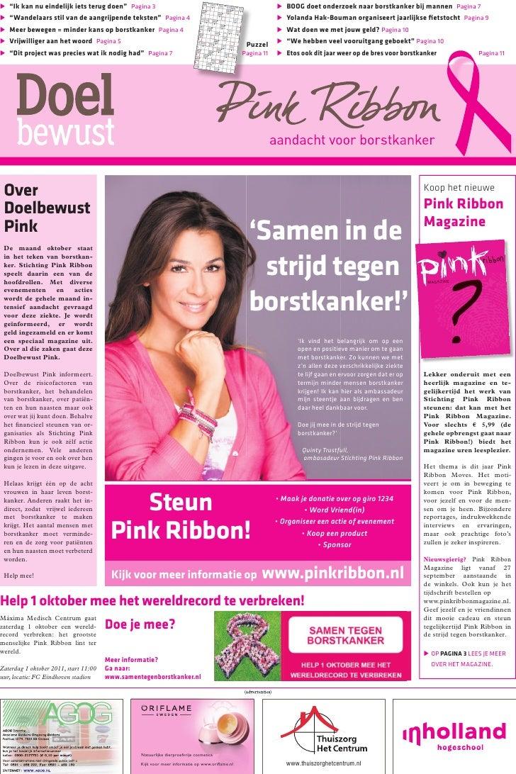 Doelbewust Pink Ribbon 2011