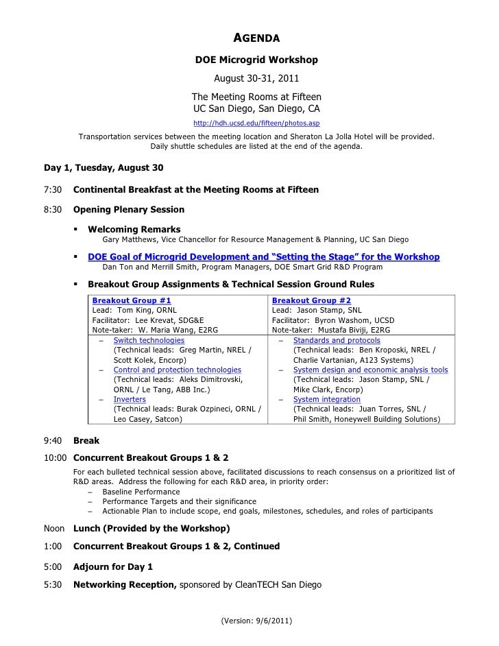 Doe microgrid workshop aug 30 31 2011 presentations