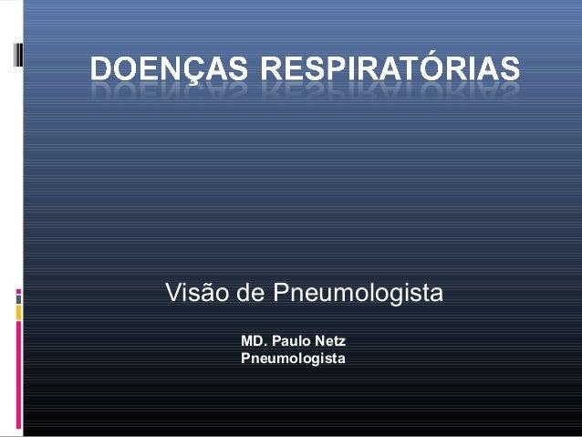 Visão de Pneumologista MD. Paulo Netz Pneumologista
