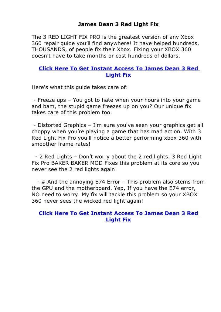 Does James Dean 3 Red Light Fix System Actually Work? JamesDean3RedLightFix Review