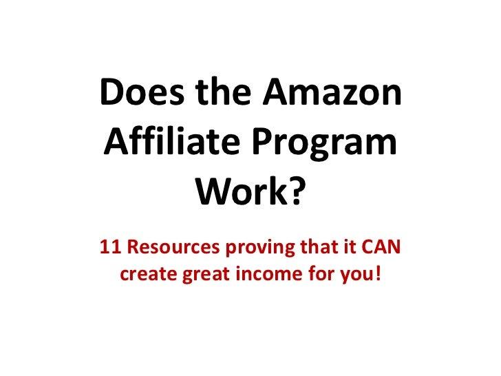 Does the Amazon Affiliate Program Work?