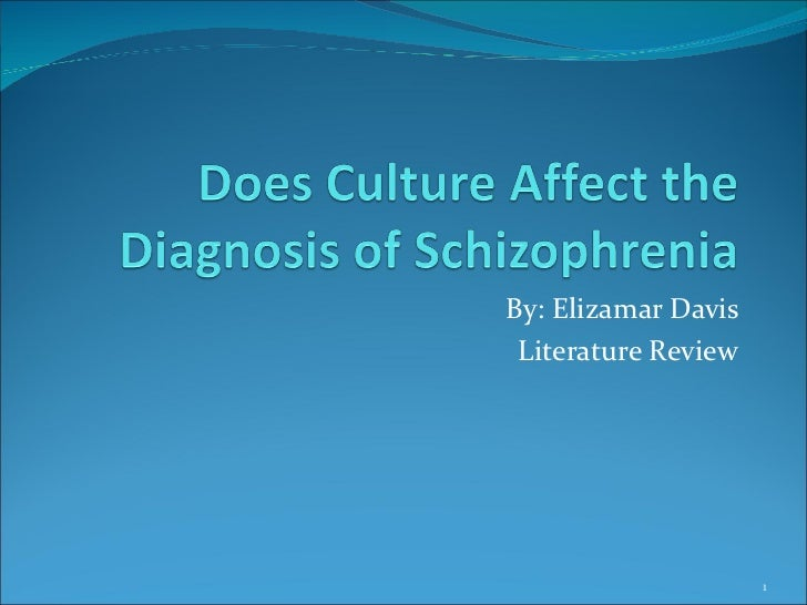 Does culture affect the diagnosis of schezoprenia.pp