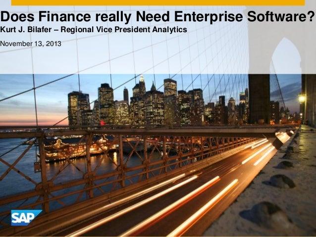 Does finance really need enterprise software?