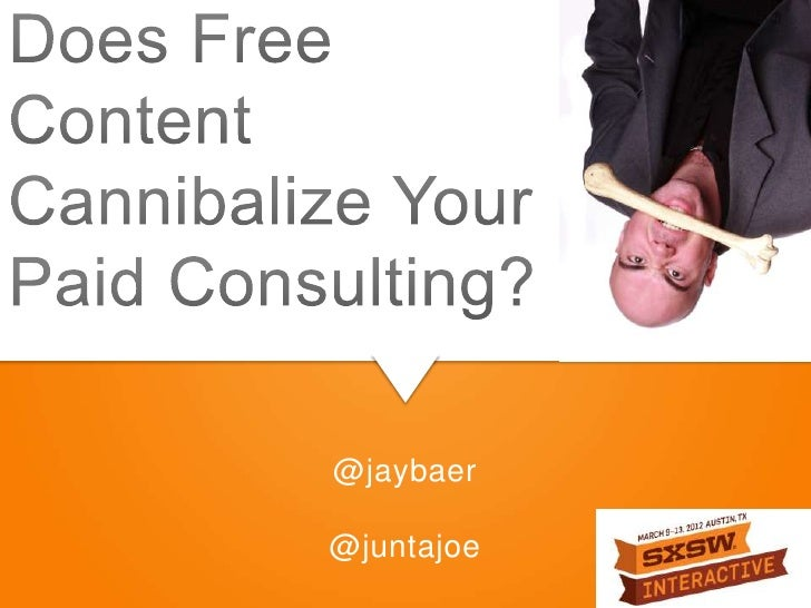 Does Free Content Cannibalize Your Paid Consulting?