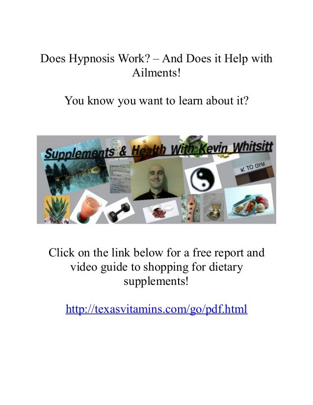 Does hypnosis work pdf