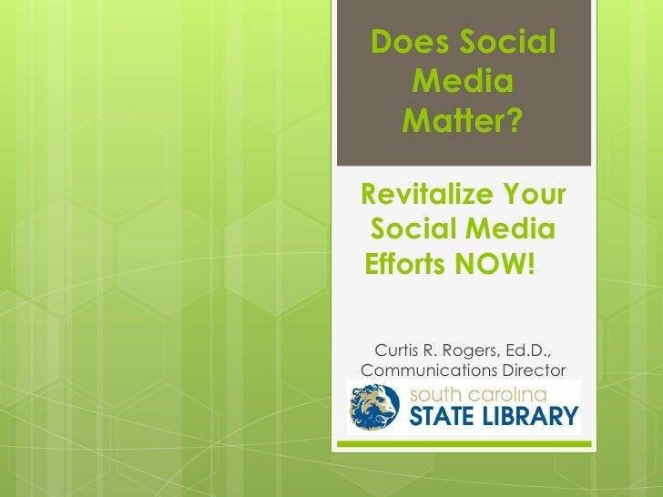 Does social media matter   state housing forum 2012