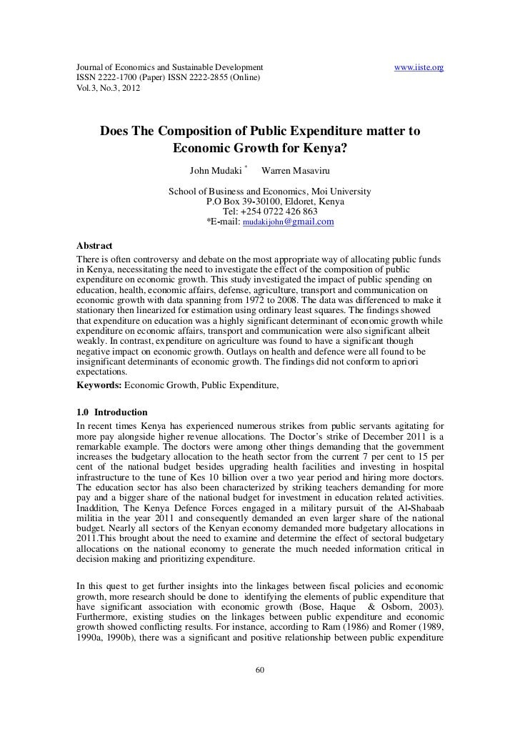 Does the composition of public expenditure matter to