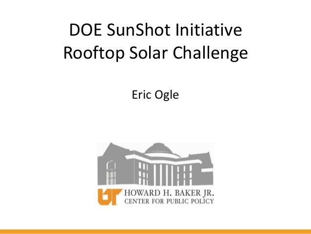 DOE Sun Shot Initiative Rooftop Solar Challenge