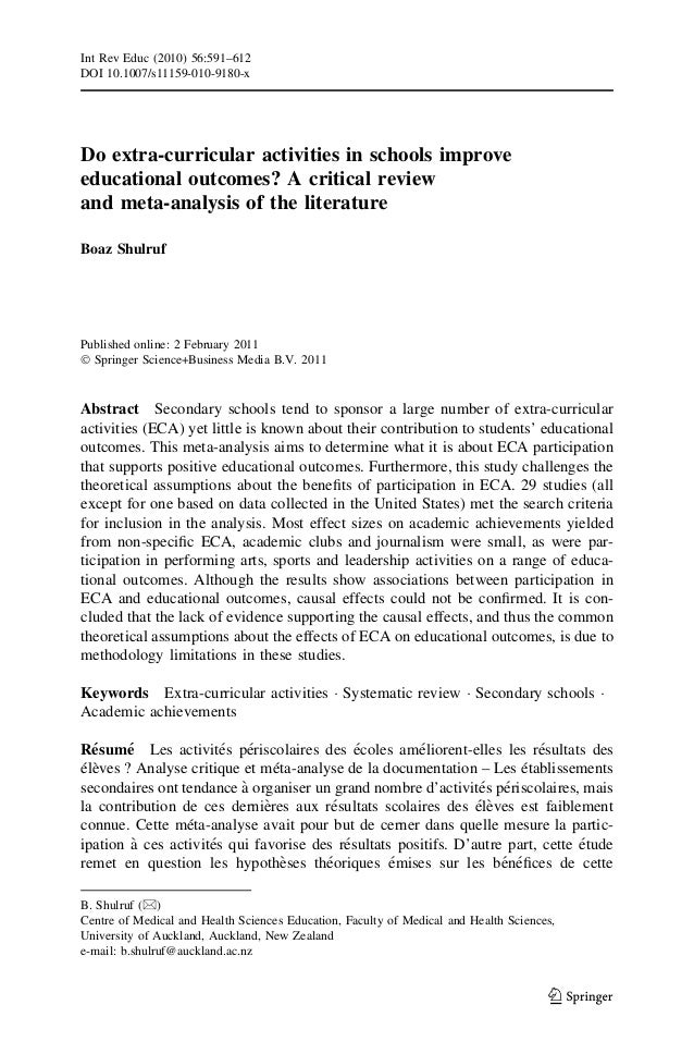 Extracurricular activities essays sample