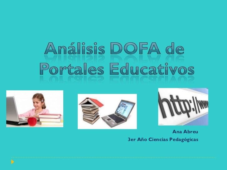 Dofa portales educativos ppt