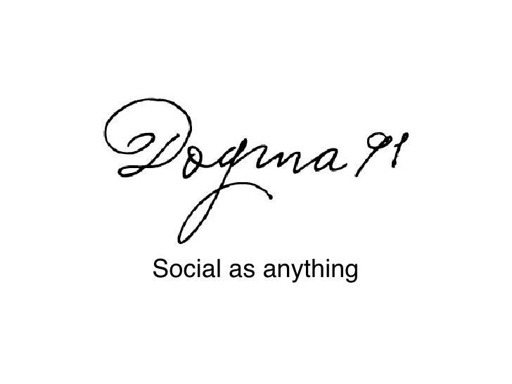 Social web agency: a manifesto