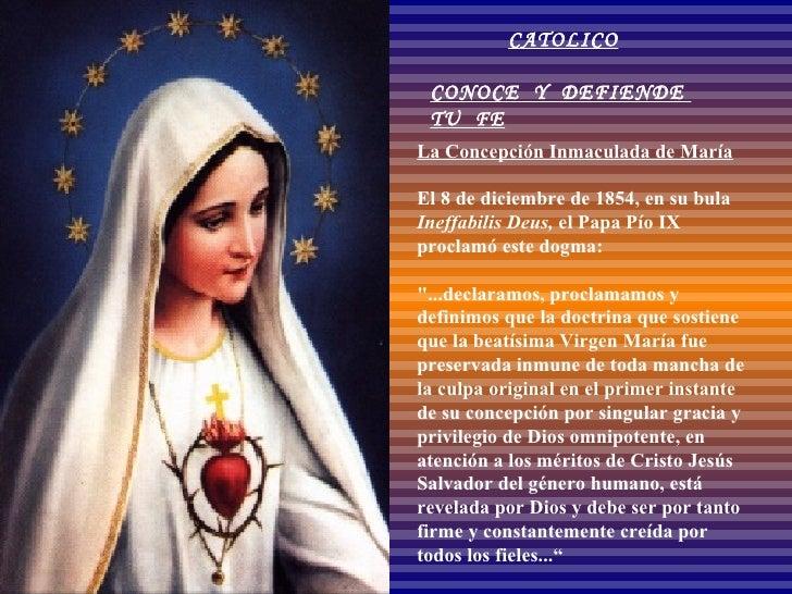 Dogma De La Inmaculada Concepcion De Maria