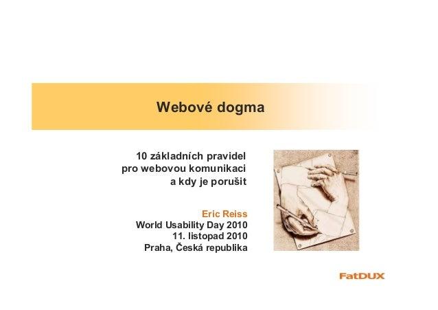 Webové dogma  (v České)