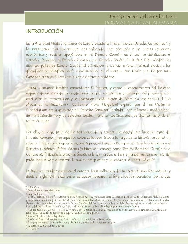 EVOLUCIÓN DE LA DOGMÁTICA PENAL ALEMANA - DOCUMENTO