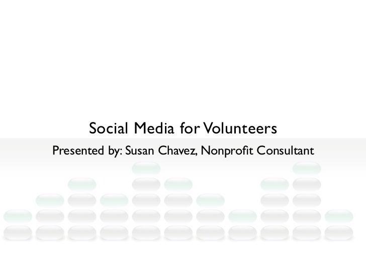 Social Media for Volunteers