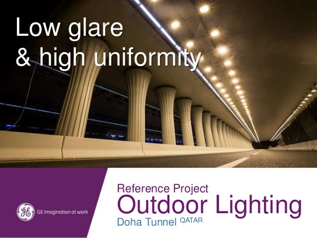 Doha Tunnel and Expressway Lighting project by GE Lighting