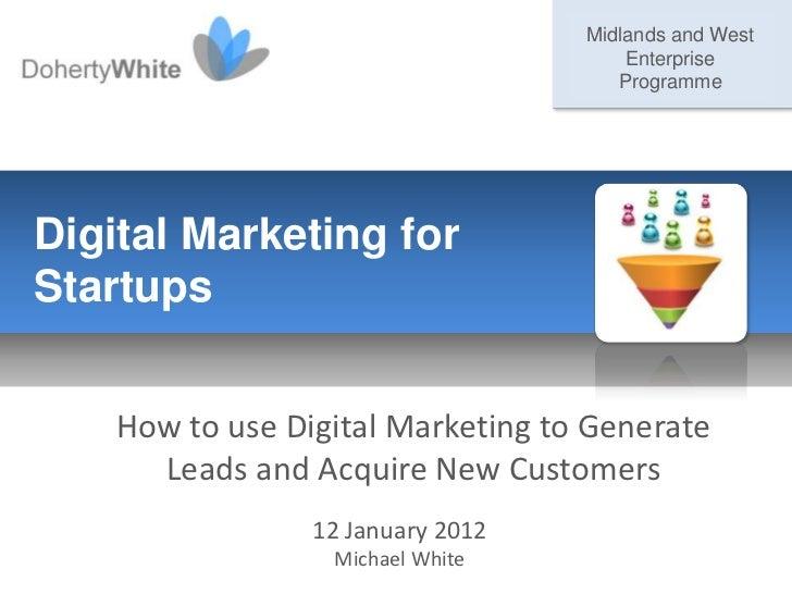 DohertyWhite GMIT Startup Marketing workshop