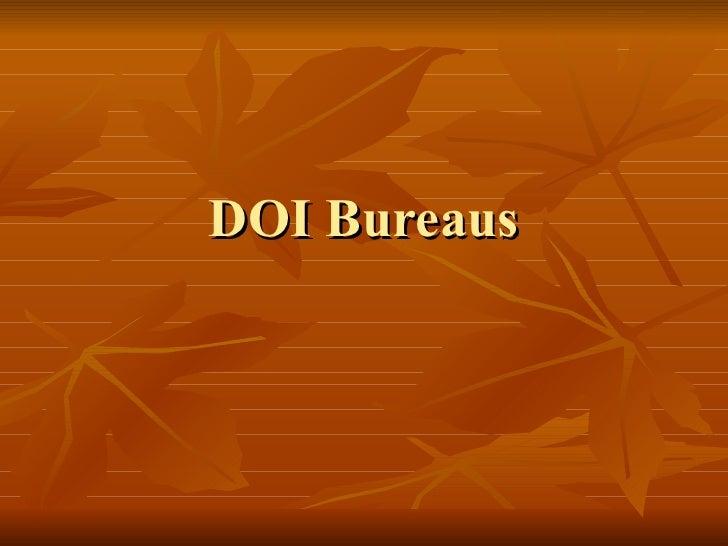 DOI Bureaus