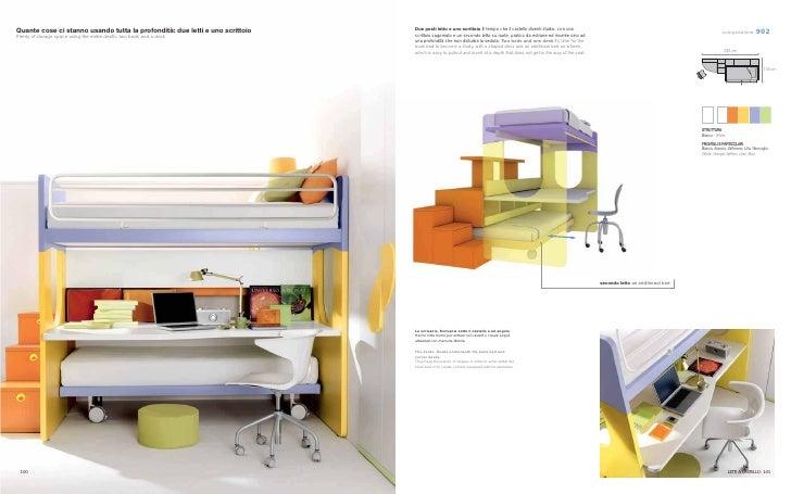 Cameretta bambini tre letti for Mercatone uno scrivania bambini