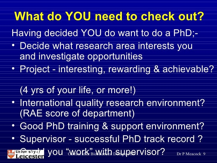 What do you need to get a phd
