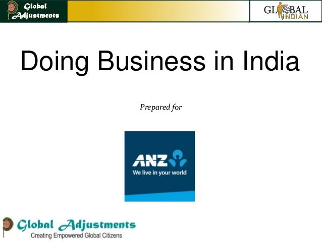 Doing Business in India         Prepared for