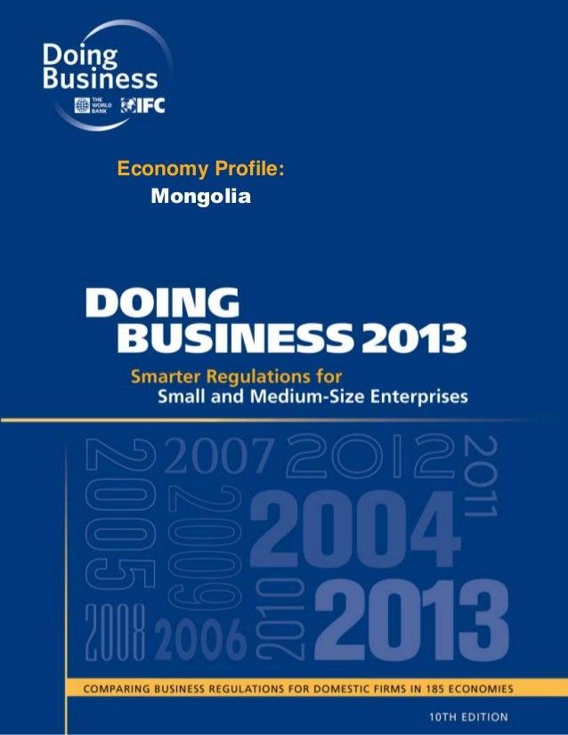 Economy Profile: Doing business 2013