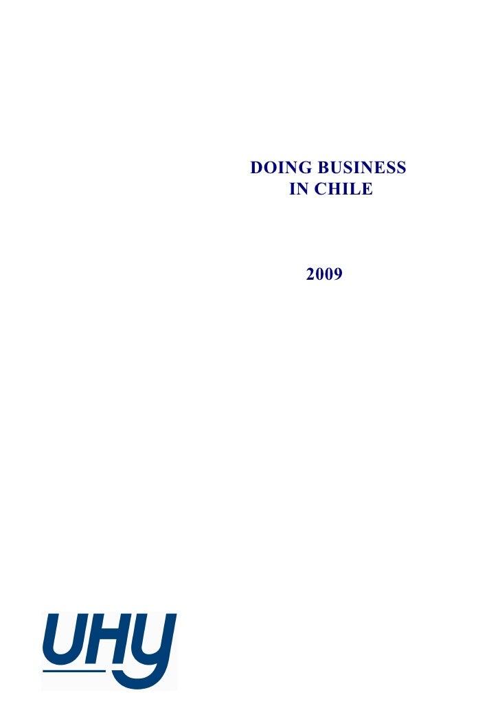 DOING BUSINESS   IN CHILE     2009