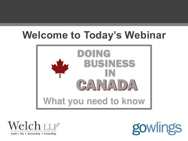 Welcome to Today's Webinar  What you need to know