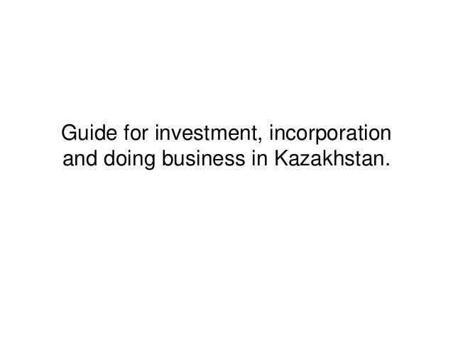 Doing business in kazakhstan