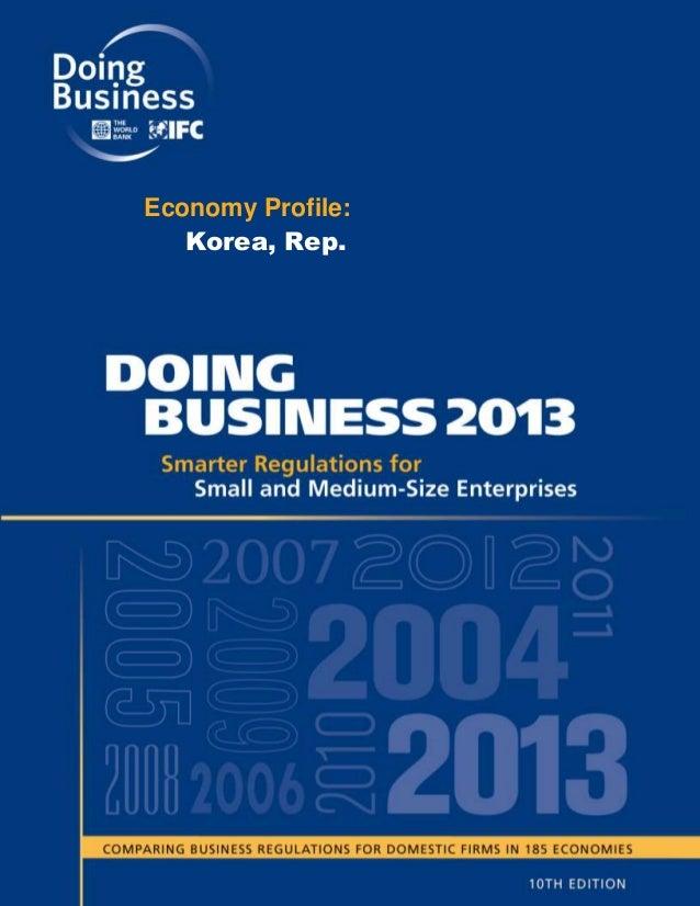 Economy Profile:   Korea, Rep.
