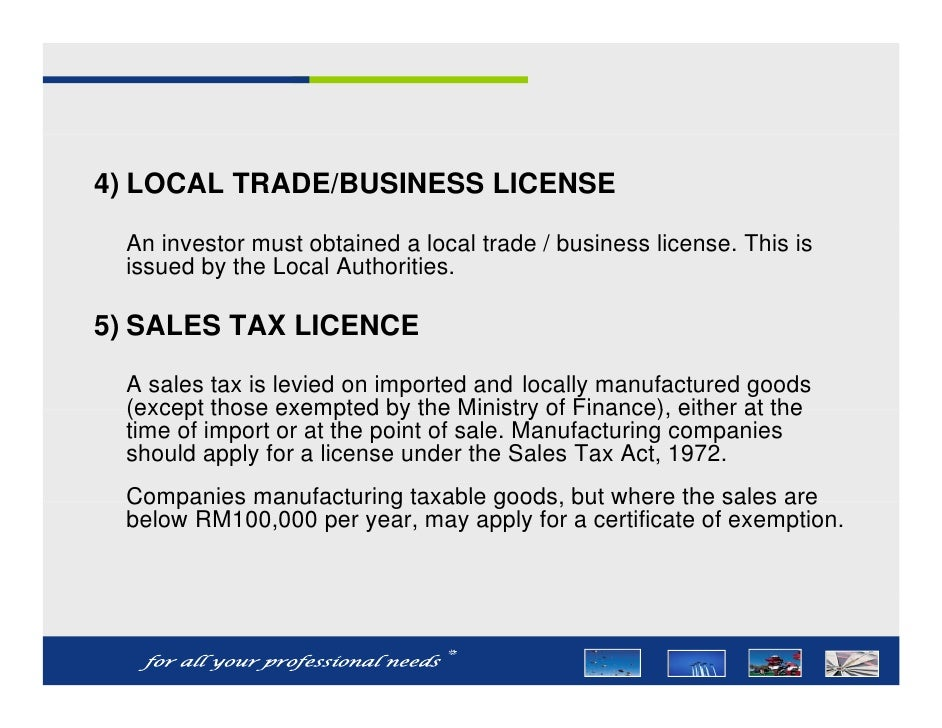 Trade License Malaysia Trade/business License an