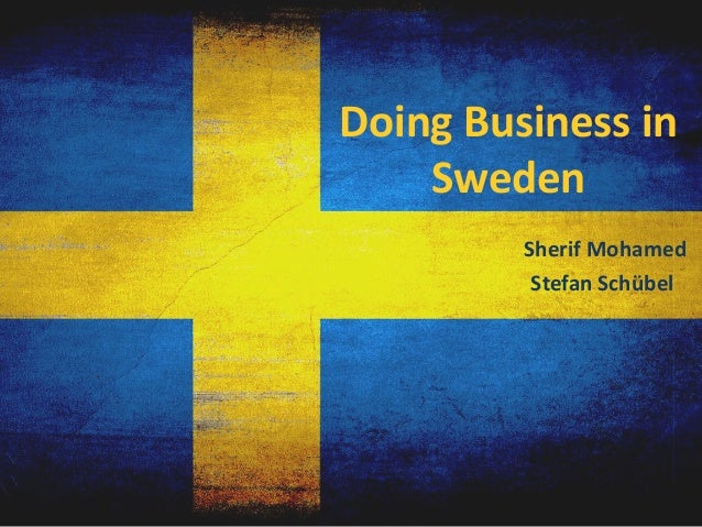 Doing business in sweden