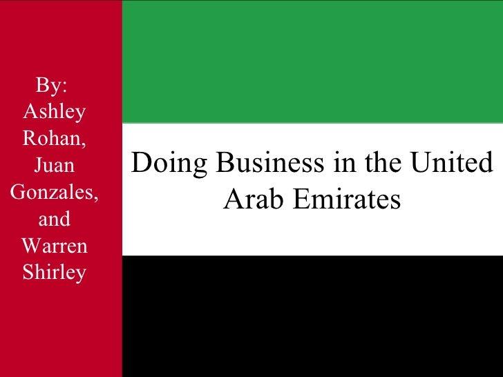 Doing Business In Uae Presentation